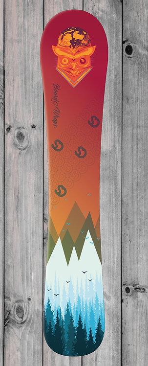 Mountain Owl Snowboard wrap