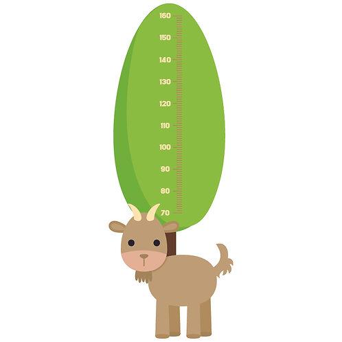 Sticker groeimeter Geitje
