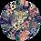 Thumbnail: Jachtluipaard in bloemen Muurcirkel