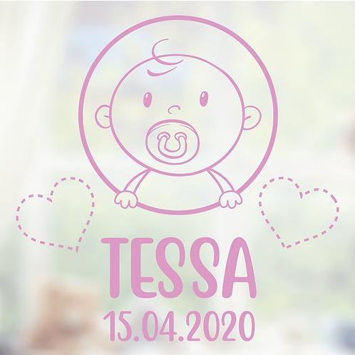 Geboorte raamsticker Tessa