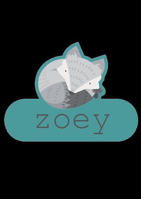 Zoey Naamsticker