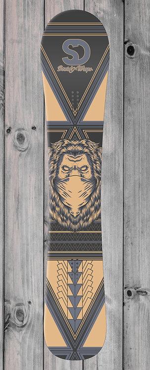 Covid Lion Snowboard wrap