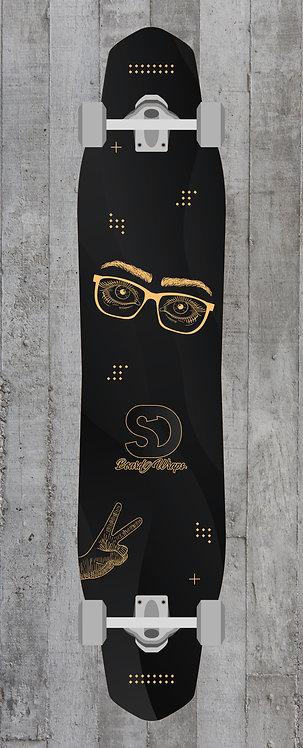 Black & Gold Longboard wrap