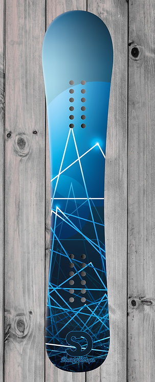 Blue Lighter Snowboard wrap