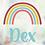 Thumbnail: Geboorte raamsticker Dex