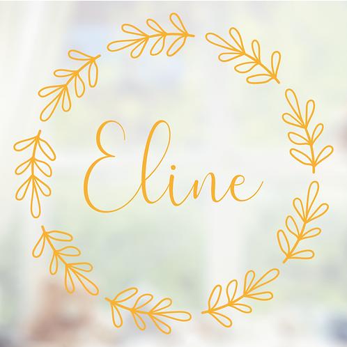 Geboorte raamsticker Eline