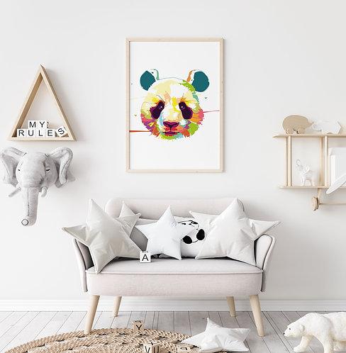 Kleurrijk Panda Poster