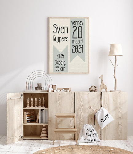 Sven geboorte Poster