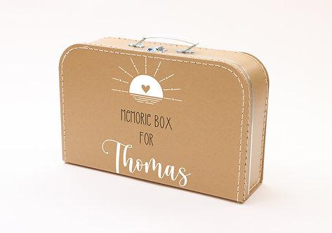 Koffertje met Memorybox Wit