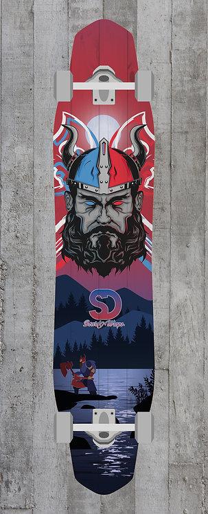Viking 2 Colors Longboard wrap