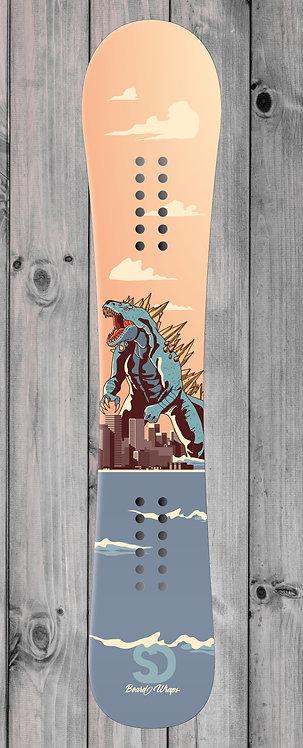 Godzilla Snowboard wrap