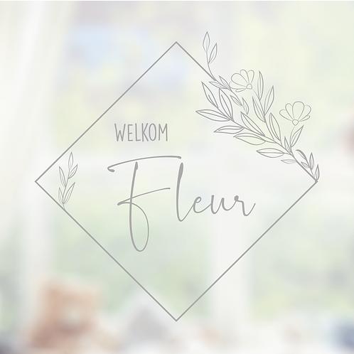 Raamsticker Fleur