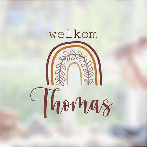 Raamsticker Thomas