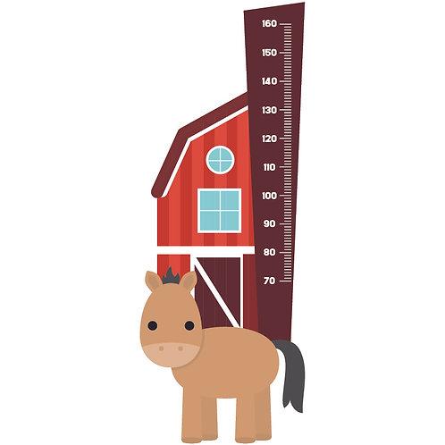 Sticker groeimeter Paardje