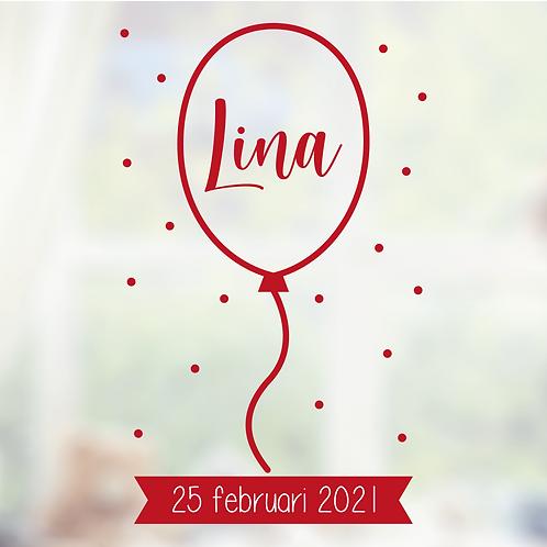 Geboorte raamsticker Lina