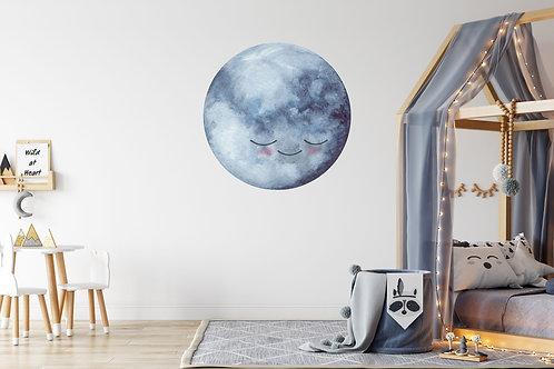 Vriendelijke maan Muurcirkel