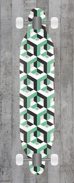 Cubes Longboard wrap