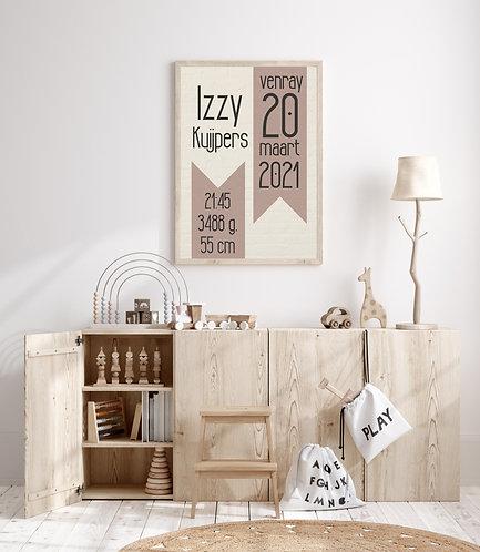 Izzy geboorte Poster
