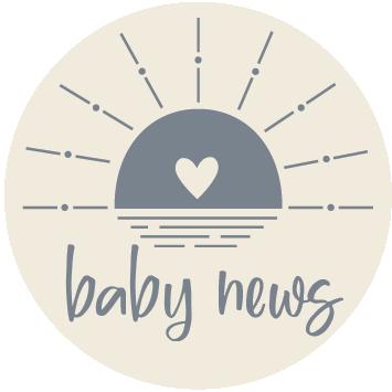 Baby news Blauw sluitzegel