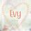 Thumbnail: Geboorte raamsticker Evy