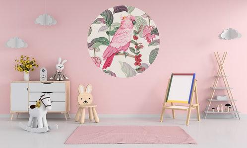 Roze Kaketoe Muurcirkel