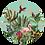 Thumbnail: Jungledieren blauw Muurcirkel