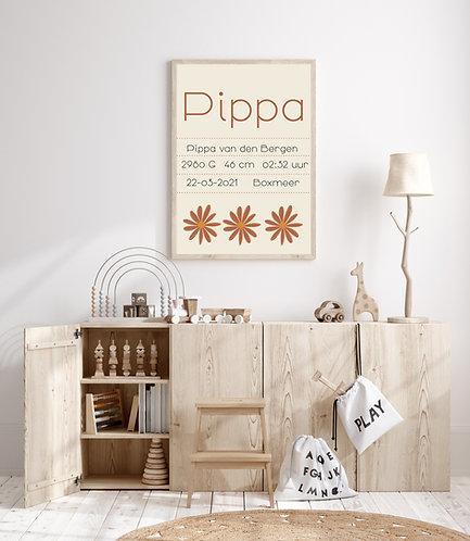 Pippa geboorte Poster