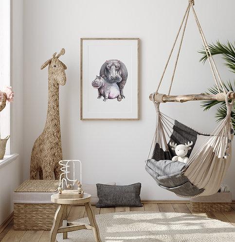 Nijlpaard Poster