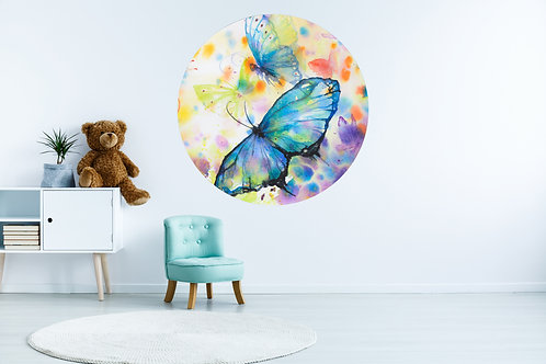 Vlinder Blauw Muurcirkel