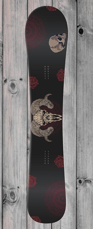 Goat Roses Snowboard wrap
