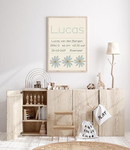 Lucas geboorte Poster