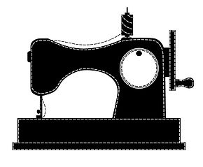 silhouette-of-the-sewing-machine-vector-