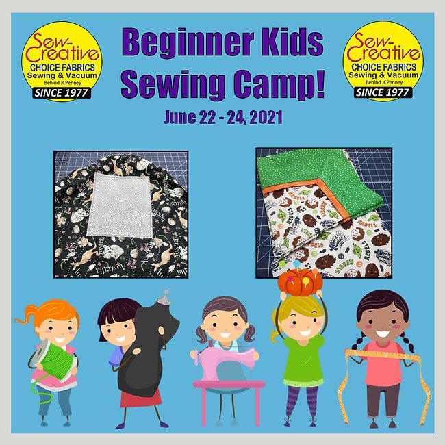 June 2021 Begin Kids Sewing Camp FB Sche