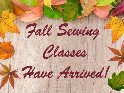 Fall Class Schedule has arrived!