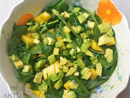 S.P.A.M. Salad (Spinach, Pineapple, Avocado, Mango)