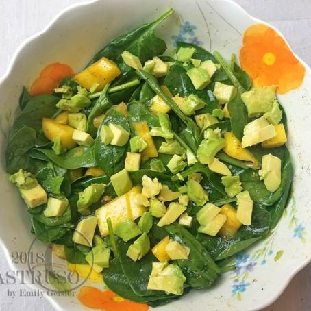 S.P.A.M. Salad (Spinach, Pineapple, Avocado, Mango)