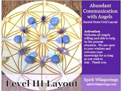 Abundant Communication w/Angels Grid Layout Card 3