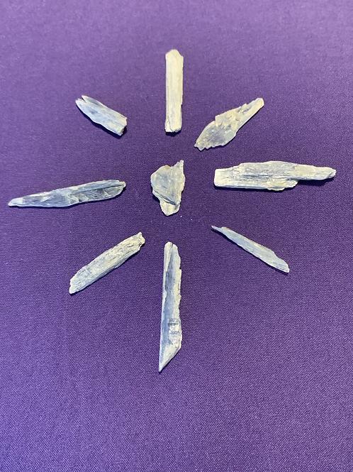 9 Raw Blue Kyanite Blades Sets