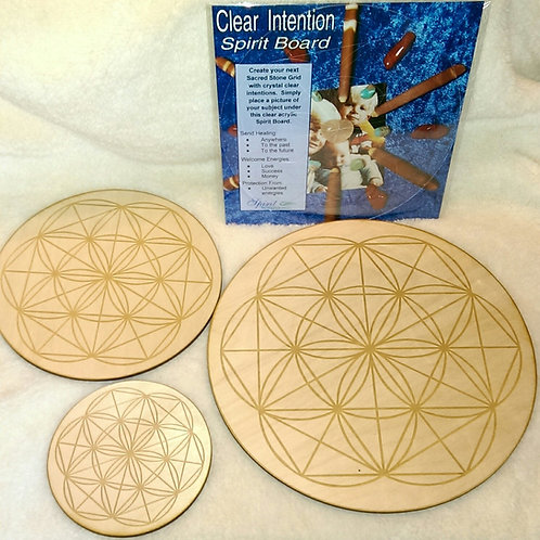 Sacred Geometry Wood Grid Boards