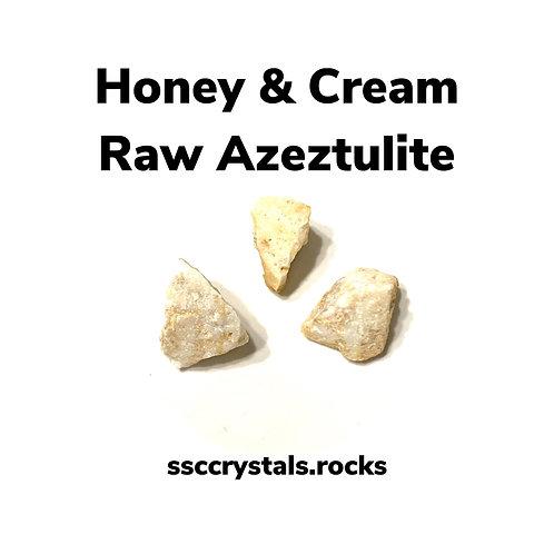 Honey and Cream Rough Azeztulite