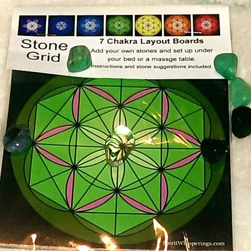 """7 - 5""""x5"""" Chakra Layout Boards"""