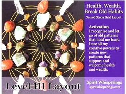 Health/Wealth/Break Old Habits Layout Card Level 3