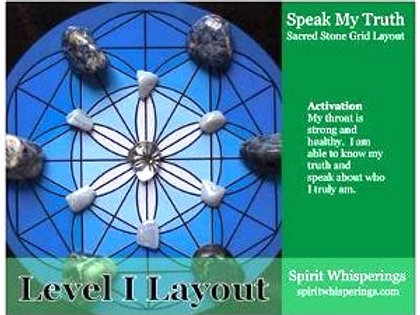 Speak My Truth Grid Layout Card Level 1