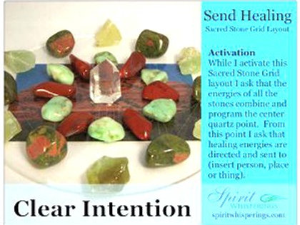 Send Healing Grid Layout Card - Clear Intentions