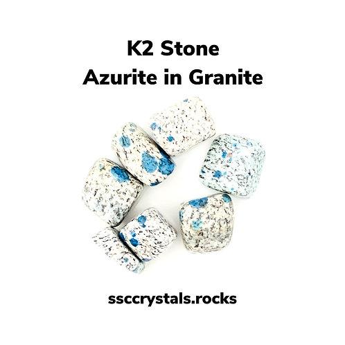 K2 - Azurite in Granite