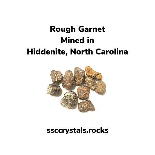 Rough Garnet Mined in NC
