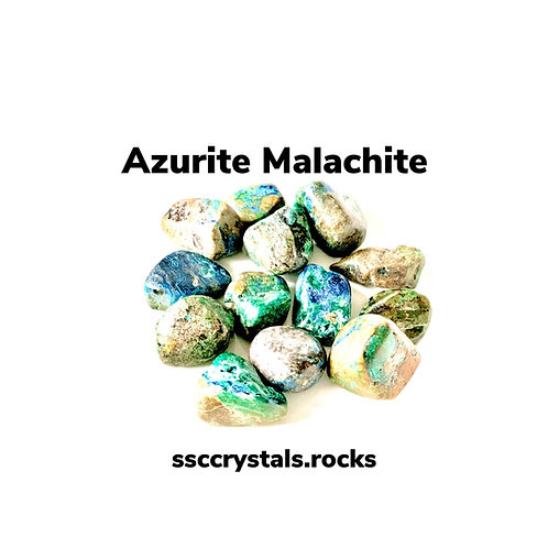 Azurmalachite - Azurite in Malachite