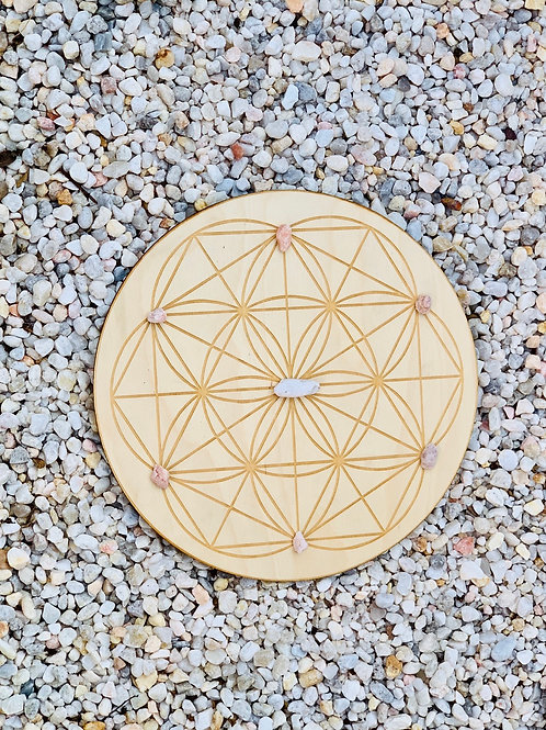 "11"" Birch Wood Grid Boards"