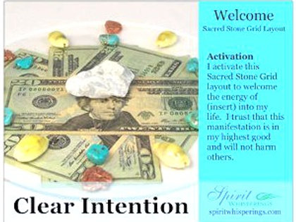 Welcome Grid Layout Card Clear Intentions