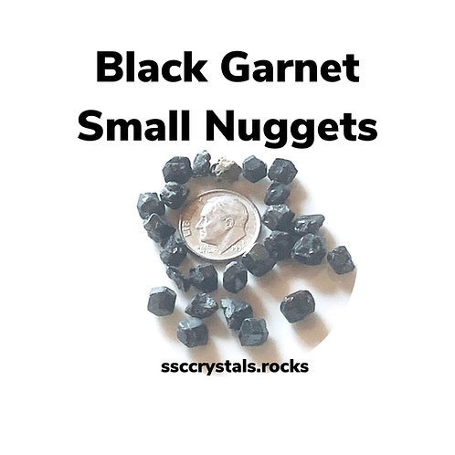 Black Andradite Garnet Nugget